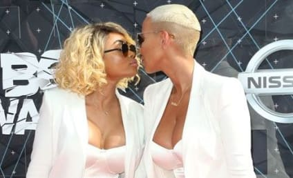Amber Rose and Blac Chyna Kiss at BET Awards!