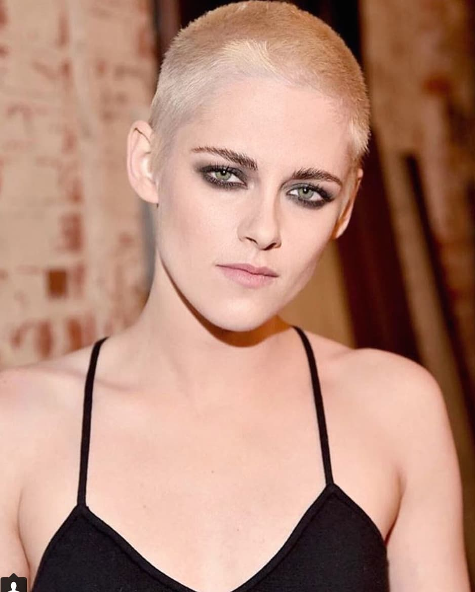 Kristen Stewart Goes Blonde Shaves Head