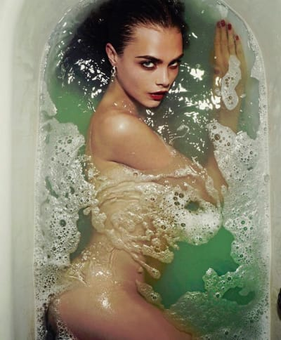 Cara Delevingne Takes a Bath