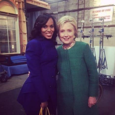 Hillary Clinton and Kerry Washington