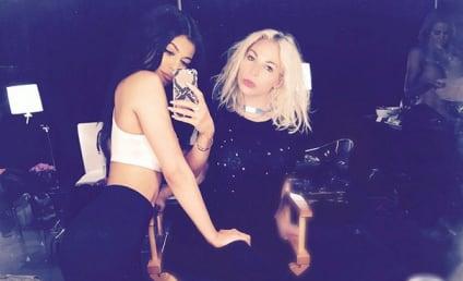 Khloe Kardashian: Topless Photobomb Alert in Background of Random Kylie Jenner Selfie!