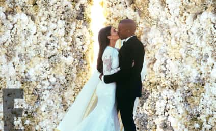 "Kim Kardashian Posts Wedding Photo, Presents ""Mr. and Mrs. West"""
