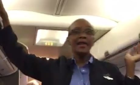 "Flight Attendant is ""Happy"" to Leave D.C. Before Winter Storm"