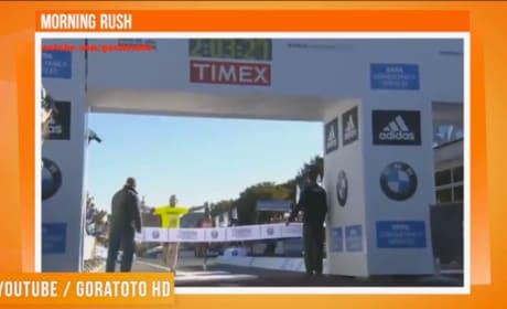 Idiot Ruins Record Marathon Time for Winner