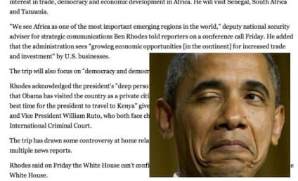 "Yahoo News Calls Kenya ""Country of Obama's Birth"""