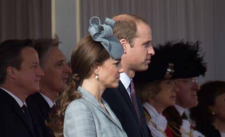 Kate Middleton in Skirt, Wind