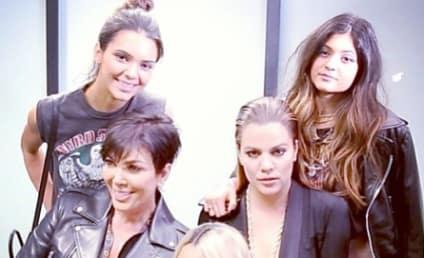 Nicki Minaj Poses with Some Kardashians, Looks Totally Thrilled