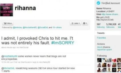 "Rihanna Denies Writing ""I Provoked Chris to Hit Me"" Tweet, Goes OFF on MTV Canada"