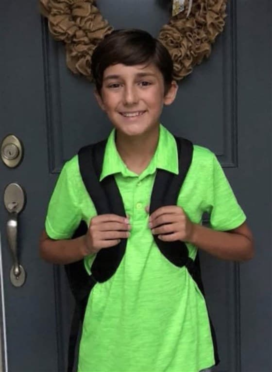 Green shirt kid