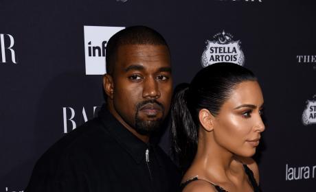 Kanye West and Kim Kardashian: No Smiles!