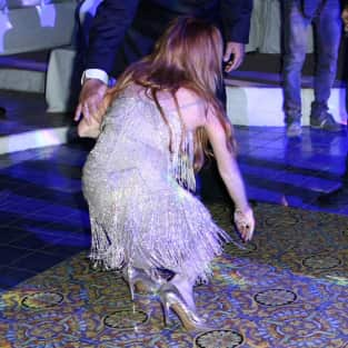 Lindsay Lohan Falls