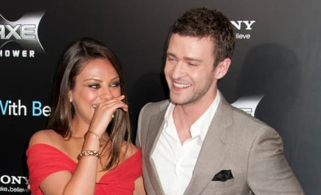 Justin Timberlake and Mila Kunis Photo