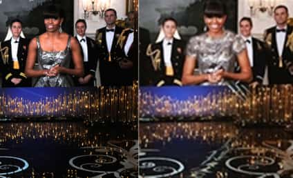Michelle Obama Oscars Dress: Altered By Iranian TV!