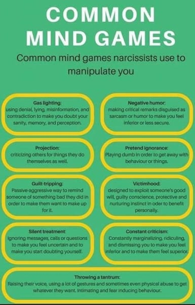 narcissist mind games graphic