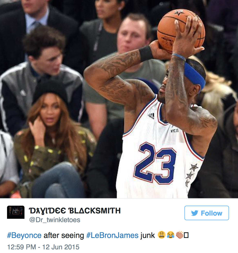 best cheap dace0 b9a32 Beyonce Reacts to LeBron James Penis Reveal: WHOA! - The ...