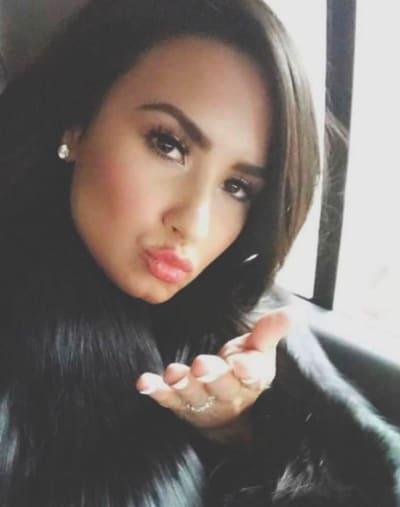 Demi Lovato Blows... a Kiss