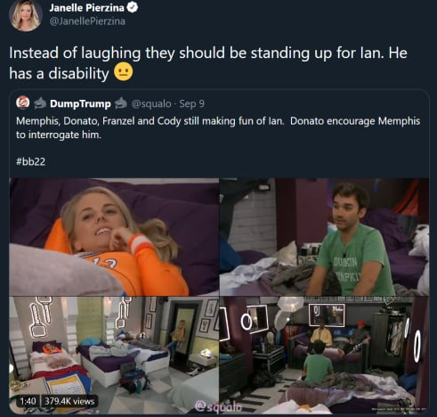 BB mockery tweets - should be standing up for Ian