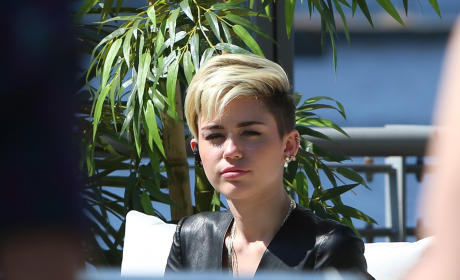 Miley Cyrus in Deep Thought
