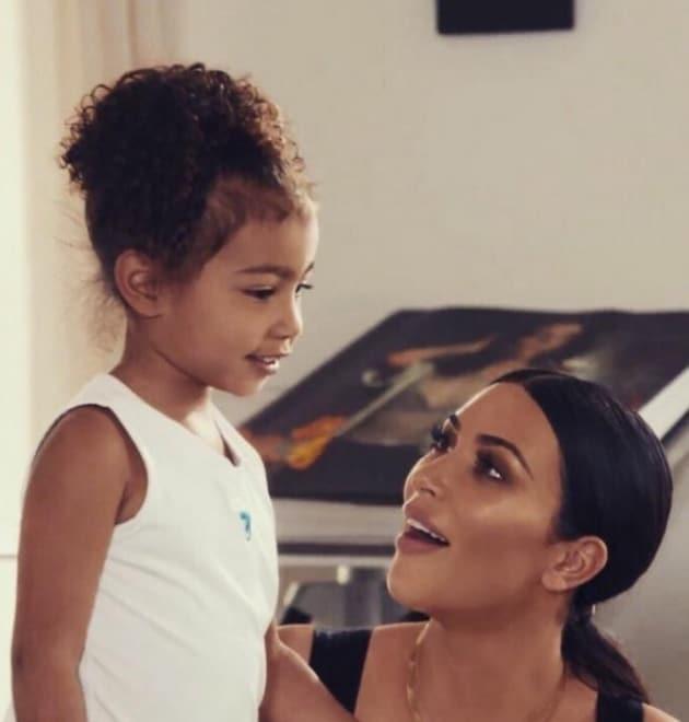 North West Turns 4 with Kim Kardashian