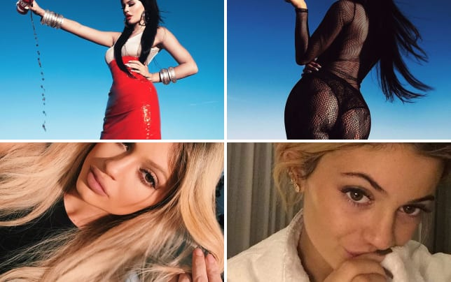 Kylie makes like kim kardashian