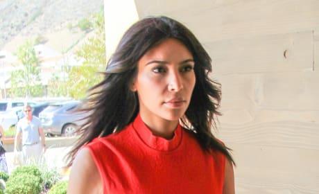 Kim Kardashian on Red
