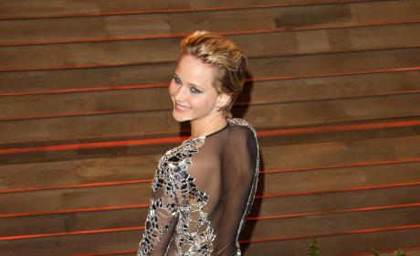 Jennifer Lawrence Goes Sheer
