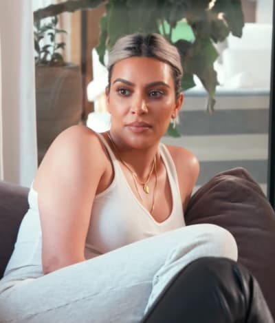 Kim Kardashian Kicks Back