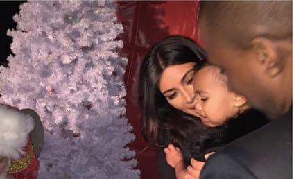Kim Kardashian Introduces Daughter to Santa Claus, Tears Ensue