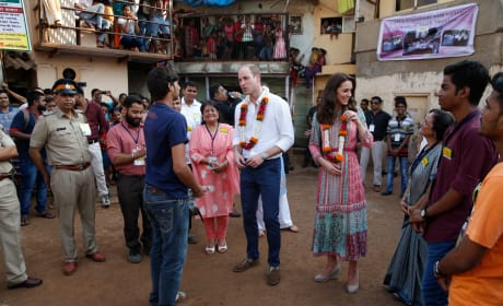 William and Kate Met SMILE Reps in Mumbai