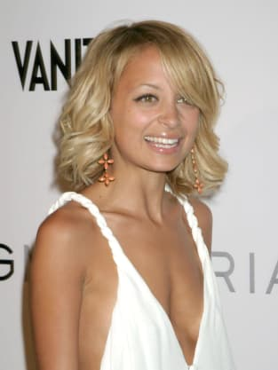 Nicole Richie White Dress