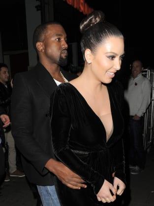 Kim andn Kanye in UK