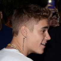 Justin Bieber Neck Tattoo