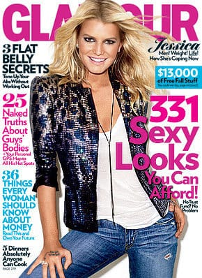 Jessica Simpson Glamour Cover