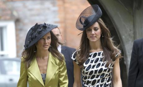 Kate and Pippa Middleton