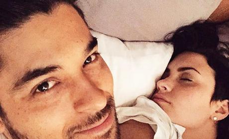 Sleeping Demi Lovato