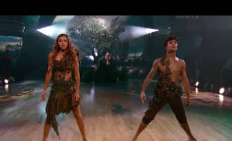 Sadie Robertson and Mark Ballas - Dancing With the Stars Adam & Eve Contemporary