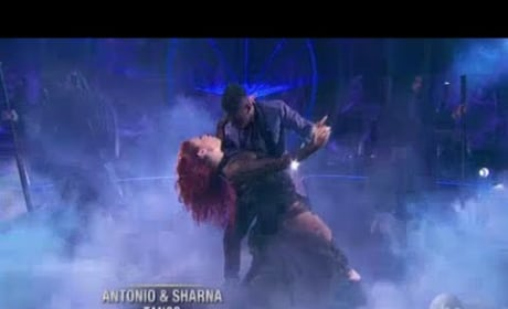 Sharna Burgess Suffers Nip Slip on Dancing With The Stars, Recovers Like a Champ