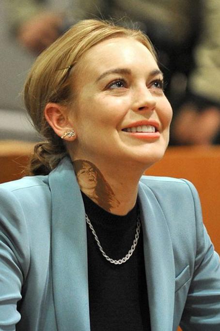 Lindsay Lohan Face Tattoo