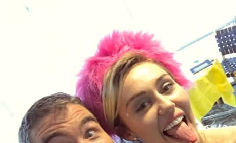 Miley Cyrus and a Student