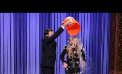 Jimmy Fallon Helps Lindsay Lohan Accept ALS Ice Bucket Challenge: Watch Her Get Wet!