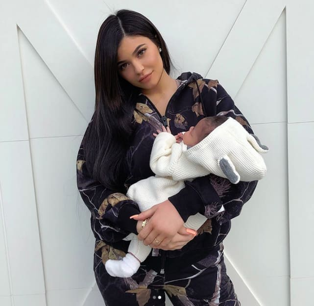 Kylie jenner and stormi webster close up