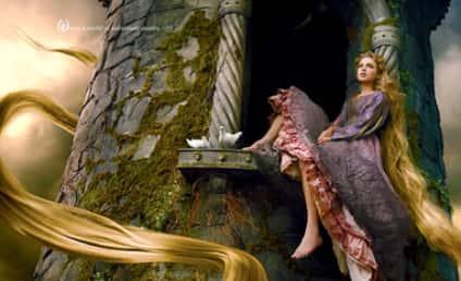 Taylor Swift as Rapunzel: First Look!