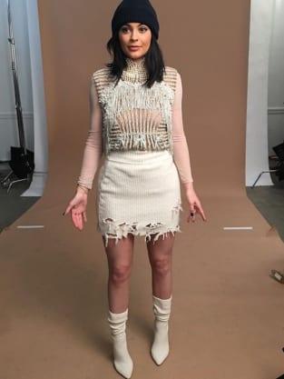 Kylie Jenner at Yeezy Season 3 fashion show