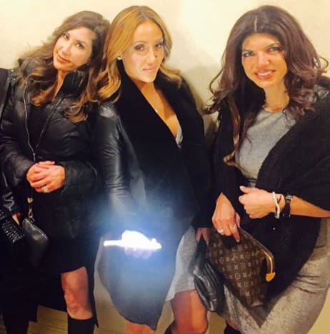 Melissa Gorga, Jacqueline Laurita and Teresa Giudice Film 'The Real Housewives of New Jersey'