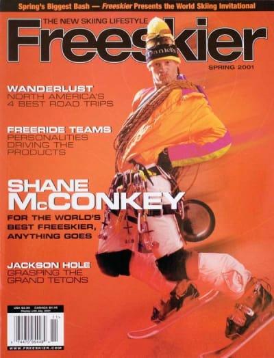 Shane McConkey on a Magazine