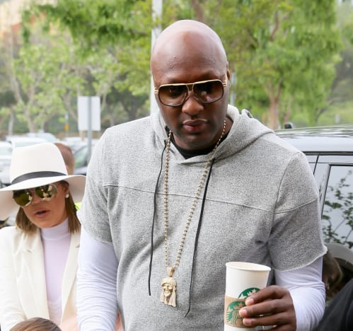 Lamar Odom with Coffee