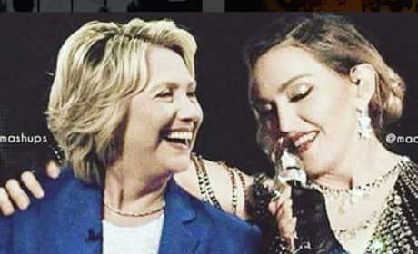 Madonna and Hillary Clinton