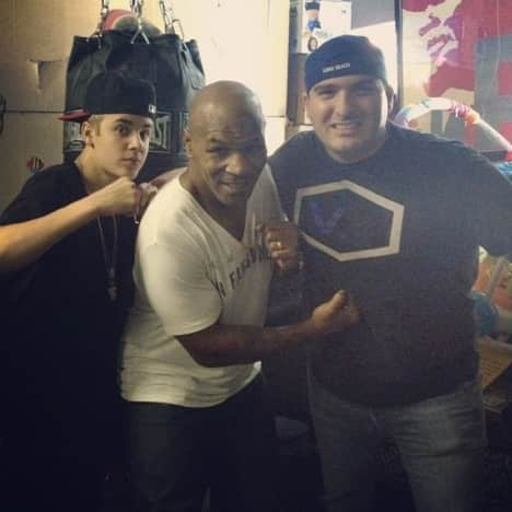 Mike Tyson and Justin Bieber