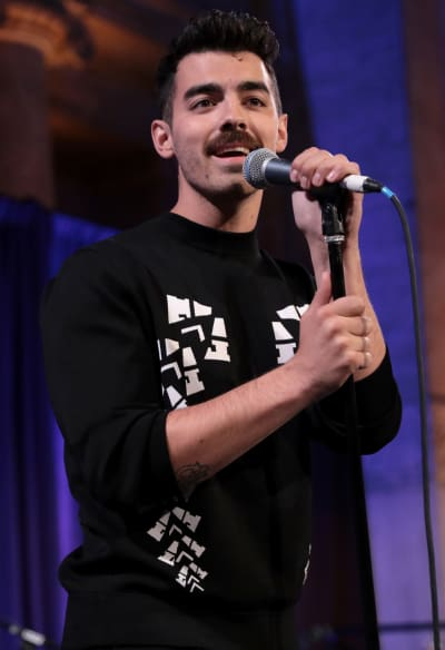 Joe Jonas on a Mic