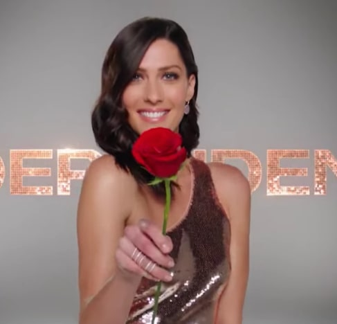 Becca Kufrin and a Rose